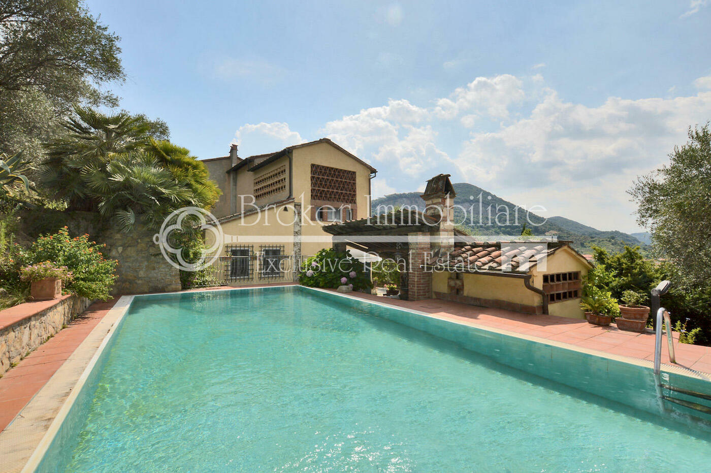 Caratteristico casale in vendita a Massarosa con piscina e oliveto