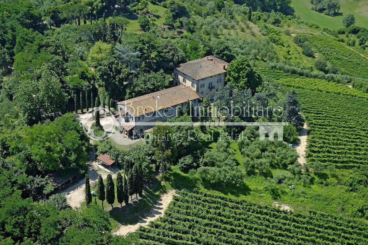Splendida tenuta di campagna con vigneto e oliveto in vendita sulle colline Pisane